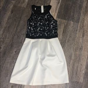 Black and white Lacey dress.